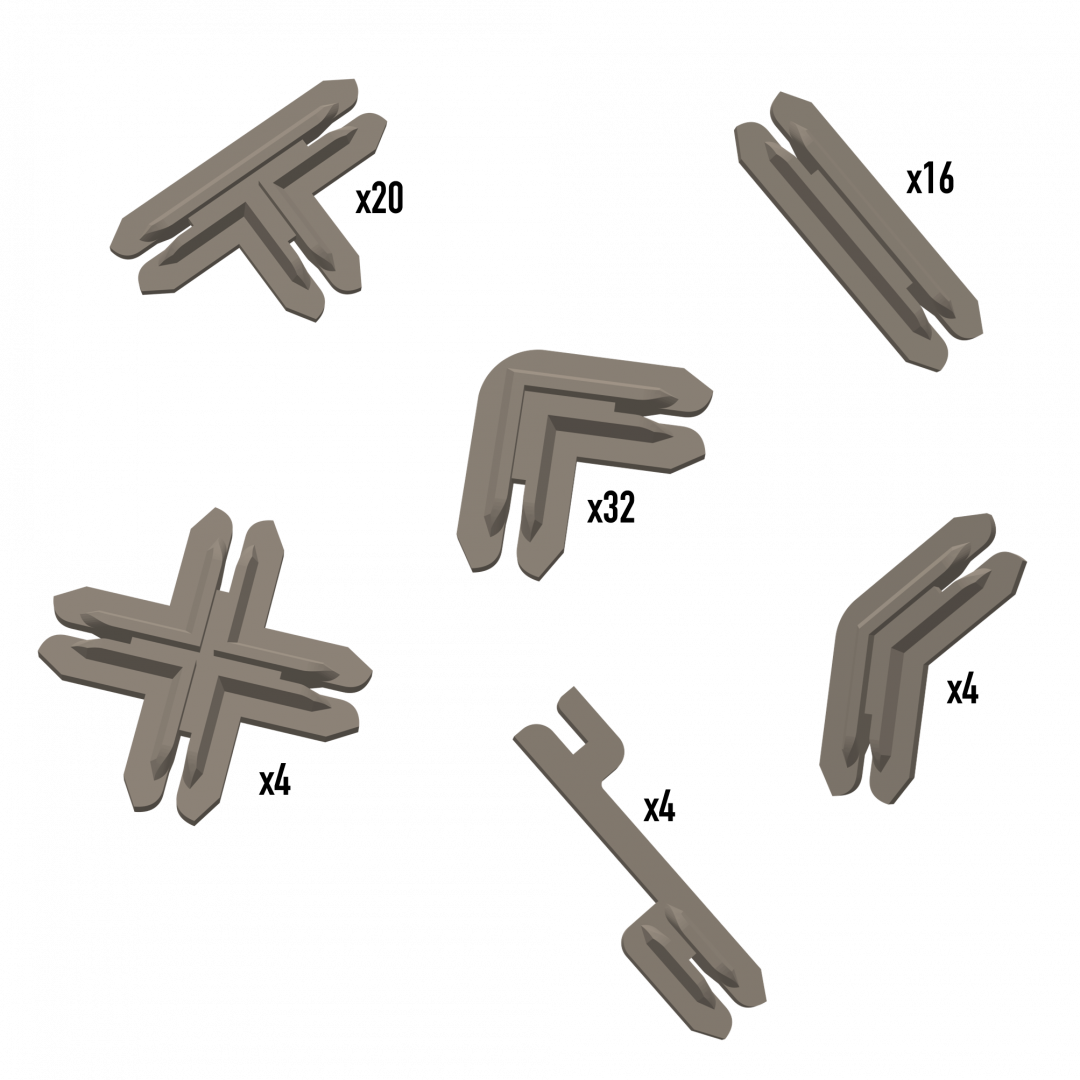Plastic Terrain Clips – Brown