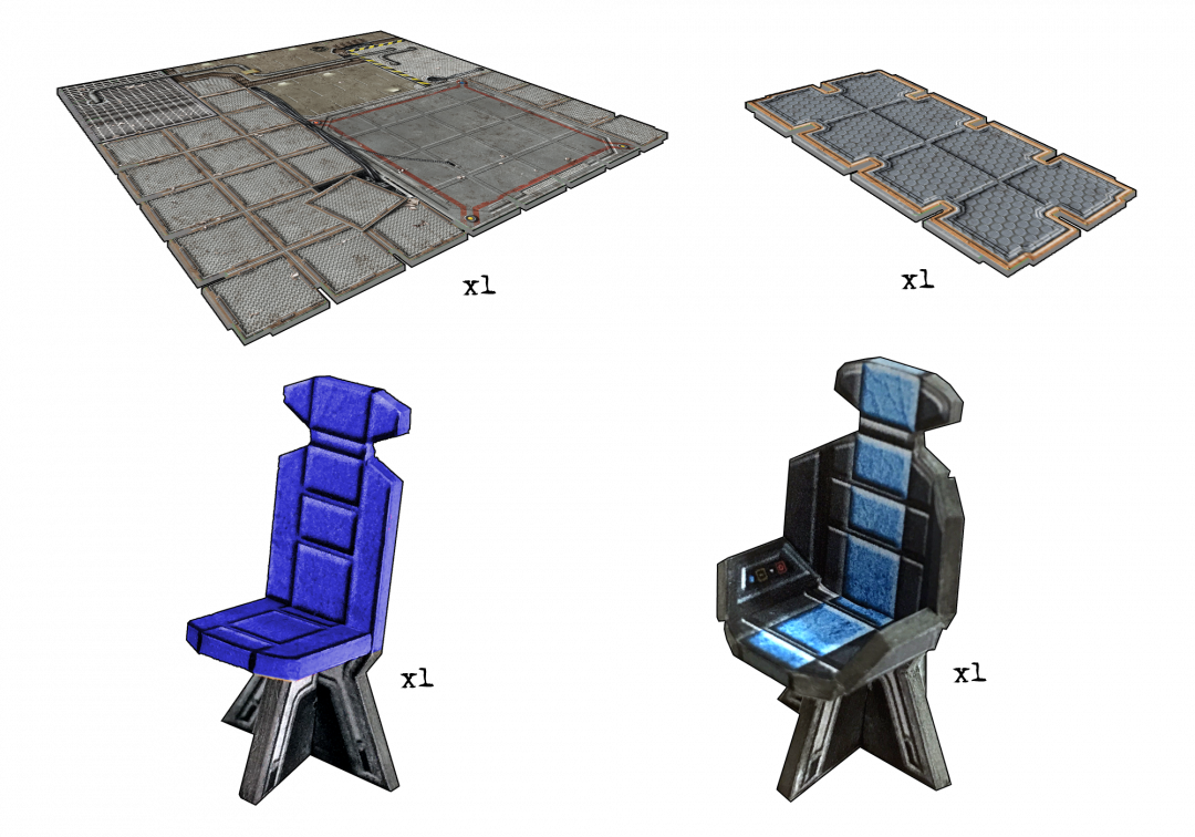 Sci-fi Large Floor Tile Pack