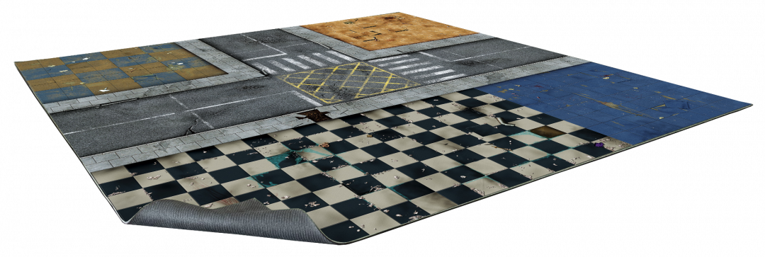 City Block Gaming Mat 2×2